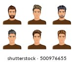 men used to create the hair... | Shutterstock .eps vector #500976655