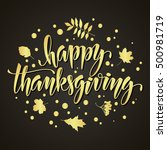 thanksgiving greeting card with ... | Shutterstock .eps vector #500981719