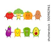 funny vegetables characters... | Shutterstock .eps vector #500982961