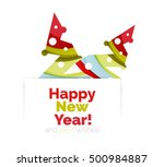 christmas geometric abstract... | Shutterstock .eps vector #500984887