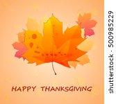 happy thanksgiving banner.... | Shutterstock .eps vector #500985229