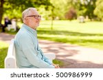 old age and people concept  ... | Shutterstock . vector #500986999