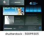 editable web site design... | Shutterstock .eps vector #50099305