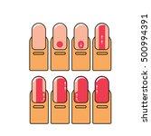 vector nail polish infographic. ... | Shutterstock .eps vector #500994391