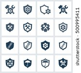 support icon set. design... | Shutterstock .eps vector #500995411