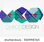 abstract background with round... | Shutterstock . vector #500998765