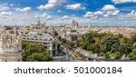 aerial view  plaza de cibeles... | Shutterstock . vector #501000184