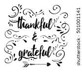 handwritten vector lettering... | Shutterstock .eps vector #501001141