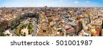 aerial view of valencia in a... | Shutterstock . vector #501001987