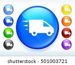 delivery truck on colorful... | Shutterstock .eps vector #501003721