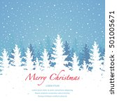 vector background  merry... | Shutterstock .eps vector #501005671
