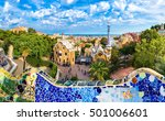 park guell by architect gaudi... | Shutterstock . vector #501006601