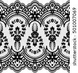 seamless lace pattern  flower... | Shutterstock .eps vector #501007069