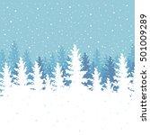 vector illustration  winter... | Shutterstock .eps vector #501009289