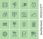 set of project management icons ... | Shutterstock .eps vector #501011377
