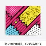 colorful pop art geometric...   Shutterstock .eps vector #501012541