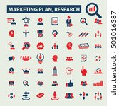 marketing plan  research icons    Shutterstock .eps vector #501016387