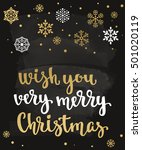 wish you very merry christmas.... | Shutterstock .eps vector #501020119