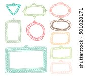 set of frames | Shutterstock .eps vector #501028171