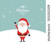 santa claus wave happy snow... | Shutterstock .eps vector #501032209