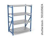 3d rendering of a metal rack...   Shutterstock . vector #501035824
