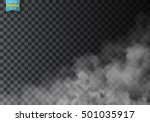 fog or smoke isolated... | Shutterstock .eps vector #501035917