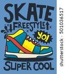 sneakers graphic design for tee | Shutterstock .eps vector #501036517