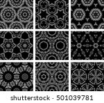 set of 9 monochrome geometrical ...   Shutterstock .eps vector #501039781