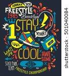 skate board typography  t shirt ... | Shutterstock .eps vector #501040084