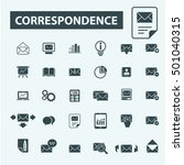 correspondence icons  | Shutterstock .eps vector #501040315