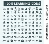 learning icons  | Shutterstock .eps vector #501040345