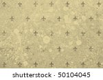 Sepia background with Florentine lilies - stock photo