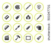 set round icons of art | Shutterstock .eps vector #501047731