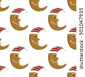 seamless pattern with cookies   Shutterstock .eps vector #501047935