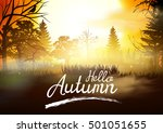 autumn. | Shutterstock .eps vector #501051655