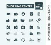 shopping center icons | Shutterstock .eps vector #501052744