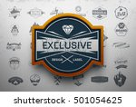 collection of vintage retro... | Shutterstock .eps vector #501054625