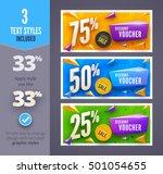 discount voucher template with... | Shutterstock .eps vector #501054655