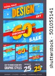 total sale design set. banner ... | Shutterstock .eps vector #501055141