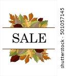 autumn sale vector concept.... | Shutterstock .eps vector #501057145