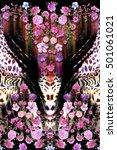 Flower Mix Leopard Surface...