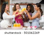 baby shower fun with mimosa... | Shutterstock . vector #501062269