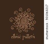 ethnic pattern hand drown... | Shutterstock .eps vector #501063217