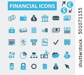 financial icons | Shutterstock .eps vector #501071155
