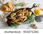 sardines breadcrumbs deep fry.   Shutterstock . vector #501071281