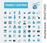 family eating icons   Shutterstock .eps vector #501071455