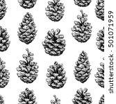 pine cone  seamless pattern.... | Shutterstock .eps vector #501071959