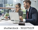 business people discussion... | Shutterstock . vector #501075229