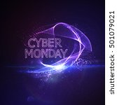 cyber monday sale flyer design... | Shutterstock .eps vector #501079021