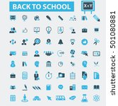 back to school icons | Shutterstock .eps vector #501080881